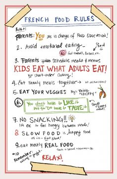 Food-Rules by the French