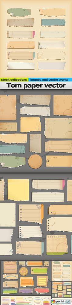 Torn paper vector, 05 x EPS