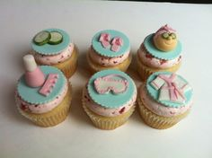 My daughter's Spa Party Cupcakes! (Strawberry Shortcake Flavor) | Yelp