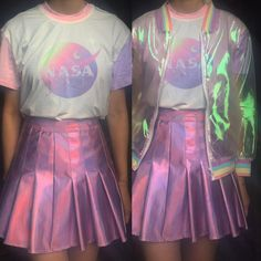 SOFT GRUNGE - TUMBLR AESTHETIC -PASTEL NASA OUTFIT SET