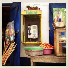 « Public telephone on the main street of the village of Andasibe. Photo by @guillaumebonn #andasibe #madagascar #island #streetphotography #guillaumebonn… »