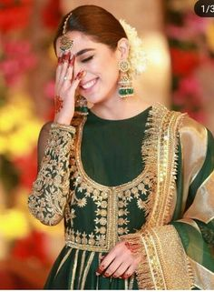 Pakistani Party Wear Dresses, Shadi Dresses, Pakistani Wedding Outfits, Wedding Dresses For Girls, Bridal Outfits, Indian Dresses, Indian Outfits, Churidar, Anarkali