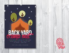 Camp Out Invitation PaisleyPrintsOnline.com #invitations #prints #summerdeals #campout