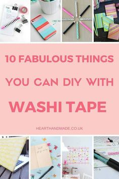 In need of some DIY Washi tape Ideas? These Washi Tape DIY Projects are marvellous and perfect for back to school! You can add washi tape to pens, binder clips, phone covers, pencils, notebooks, washi tape laptop skins, paperclip flags and even a custom washi tape wall calendar DIY!