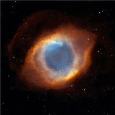 Hubble-avaruusteleskoopin ottama kuva Helix-nebulasta, eli planetaarisesta sumusta. Kyseinen, luettelonumeroltaan NGC 7293 –nebula tunnetaan myös nimellä Jumalan silmä.
