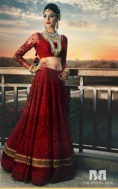 10 Fabulous Red Bridal Lehenga Cholis For The Perfectionist Bride