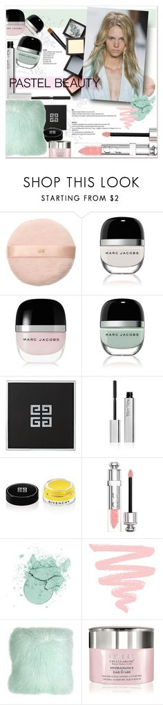 """""""#pastelmakeup"""" by stylemeup-649 ❤ liked on Polyvore featuring beauty, H&M, Marc Jacobs, Givenchy, Kjaer Weis, Christian Dior, Pillow Decor and By Terry"""