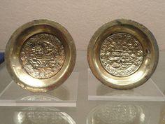 Silver plates, Chimu, 1100-1450 AD, Chan Chan, northern Peru                                              Native American civilization