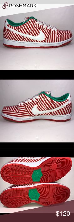 3a2685fcbd3e Nike SB Dunk Low Pro Candy Cane Skateboard Sz 10.5 Excellent Like New  Condition Never Been