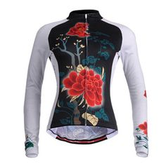 805949631 Mountainpeak Women s Flowers Long Sleeve Cycling Jersey
