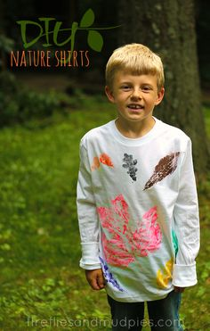 DIY Stamped Nature Shirts