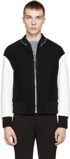 Neil Barrett Black & White Bomber Jacket