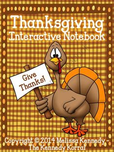Thanksgiving Interactive Notebook from The Kennedy Korral on TeachersNotebook.com -  (12 pages)  - Thanksgiving Interactive Notebook