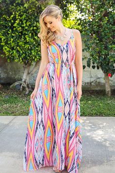 Amanda+Multi+Color+Maxi+Dress