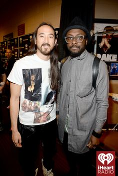Steve Aoki and will.i.am kick it backstage at the 2014 iHeartRadio Music Festival! #iHeartRadio