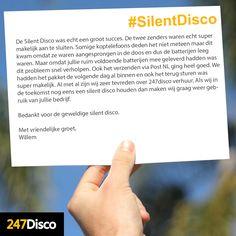 De Silent Disco was echt een groot succes. De twee zenders waren echt super makelijk aan te sluiten.