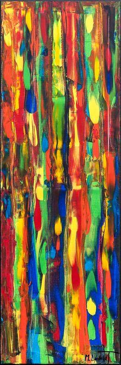 NEW PAINTING ! Tribal Colors III 120x40 cm My website: #art #paintings #artbylonfeldt