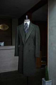 Deep Green Casentino Double Breasted Coat