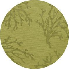 Dalyn Rug Co. Bella Green Area Rug Rug Size: Round 4'