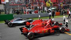 Worst decision of Ferrari, for sending their cars out in the 'wrong' order in qualifying at the Italian Grand Prix. Ferrari claimed their first front-row lockout at Monza since 1994 - except it was Raikkonen, not Vettel, who claimed pole Italian Grand Prix, Formula 1, F1, Front Row, Ferrari, Passion, Cars, World, Autos
