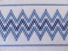 Tea Towel Dish Towel Swedish Weaving Blue by SnowboundMe: