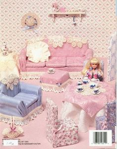 Old Scool Couches for Barbie - free template and Tutorial