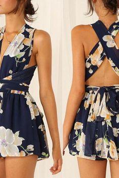 Binding printing sexy dress