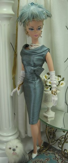 French Grey for Silkstone Barbie and similar size dolls on Etsy now