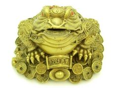 This 3 legged Feng Shui money toad is said to bring monetary gain, wealth and good health. This mythical Frog is also said to protect against misfortunes, drive away evil and also protect wealth.