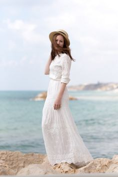 White on the Breakaway | by Ever Blue Pearls #white #dress How lovely!