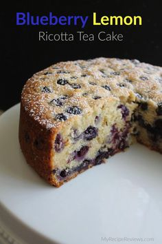 with fresh blueberries, soft, tender with a hint of lemon - a great cake! with fresh blueberries, soft, tender with a hint of lemon - a great cake! Tea Cakes, Food Cakes, Cupcake Cakes, Cupcakes, Veggie Cakes, Veggie Food, Mini Cakes, Just Desserts, Delicious Desserts