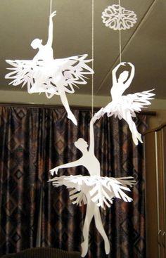 ballerina snowflakes, I LOVE these!!!!