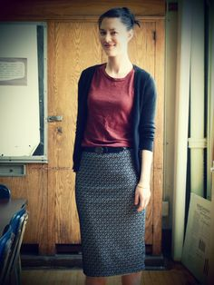 """Cute outfit to wear to work. Who knew there were actual """"teacher style blogs""""?"""