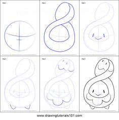 how to draw rowlet step by step
