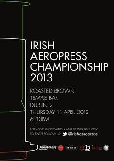 Irish Aeropress Championship 2013 Poster
