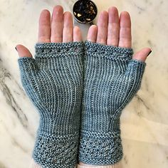 Crochet Patterns Gloves Ravelry: Boardwalk Stroll Mitts pattern by Jennifer Shiels Toland Knitting Stitches, Knitting Patterns Free, Free Knitting, Crochet Patterns, Fingerless Gloves Knitted, Knit Mittens, Crochet Gloves Pattern, Knit Crochet, Wrist Warmers