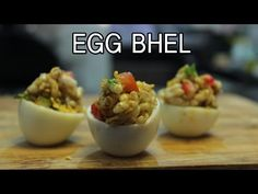 (2) Egg Bhel | Mumbai Street Food | Chef Saransh - YouTube Mumbai Street Food, How To Make Eggs, Egg Recipes, Make It Yourself, Dishes, Youtube, Plate, Tableware, Cutlery