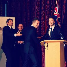 The #Aussie boys share a laugh during their visit to the Australian High Commission #Ashes #Cricket