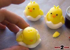 Making Easter Cupcake Figures Easter Bunny Cake, Easter Cupcakes, Easter Cookies, Easter Treats, Easter Eggs, Dog Cake Topper, Fondant Cupcake Toppers, Cupcake Cakes, Mini Cakes