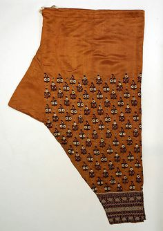 19th century. Trousers. Indian, silk metmuseum.org