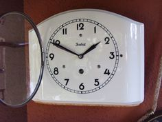 1939 WWII WW2 art deco VERY PRETTY JUNGHANS KITCHEN WALL CLOCK mantle mantel