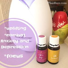 4 different diffuser recipes using Young Living essential oils