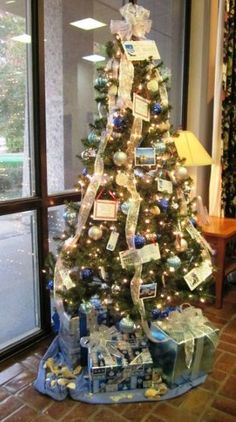 The beautiful Christmas tree on display at the Visitor Information Center in Kingsland, located on I-95.