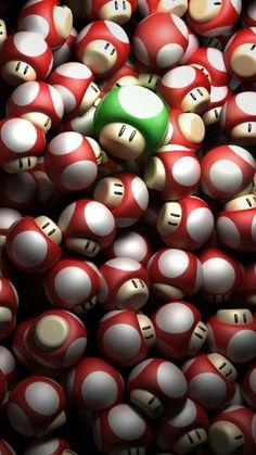 Mario Bros Mushrooms