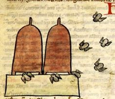 Early American Gardens: Bees & beehives from medieval Illuminated Manuscripts