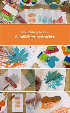 Bl tterdruck pergament laterne art class pinterest kindergarten upcycle and craft - Herbstideen kindergarten ...