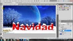 Tutorial Photoshop Efecto Texto con Nieve