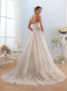Strapless prinsessen trouwjurk op maat elegante bruidsjurk