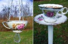 Vintage Teacups and Saucers into Birdfeeders | eBay