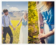 cute engagement pictures - white maxi skirt and cropped jean tank top